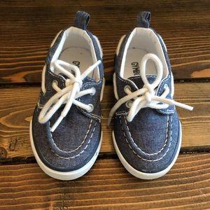 Gymboree Boys Chambray Grey Boat Shoes